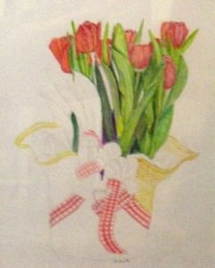 Tulips Basket by Blanche Benton