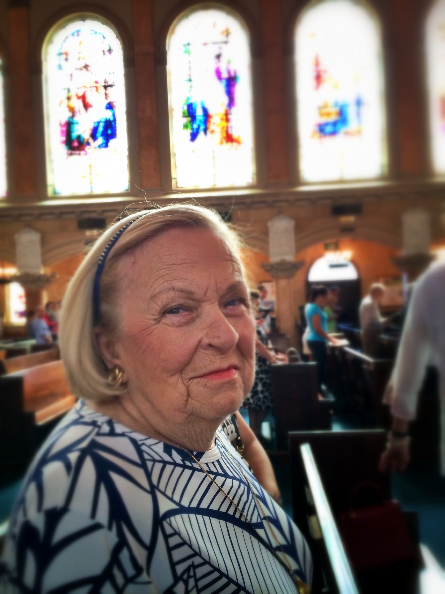 Blanche at St. Edward's Church in Palm Beach, FL