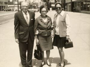 Blanche with her parents, Ed & Verena